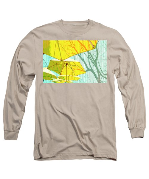 Umbrellas Yellow Long Sleeve T-Shirt