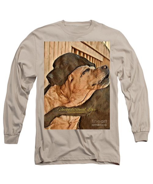 Long Sleeve T-Shirt featuring the digital art Unconditional Love by Kathy Tarochione
