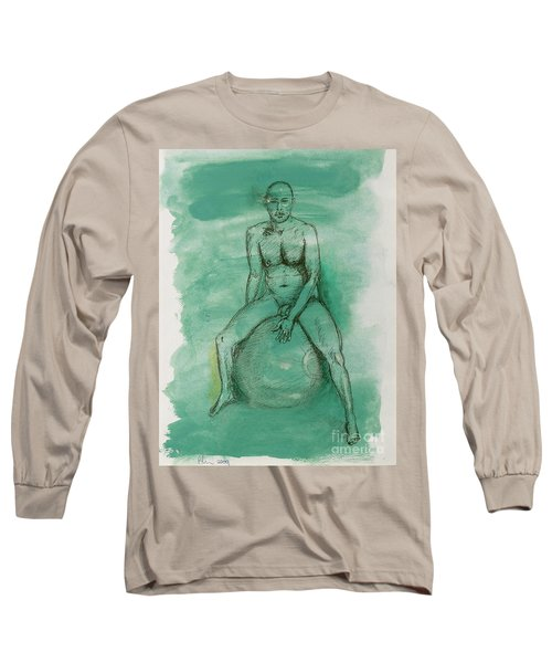 Long Sleeve T-Shirt featuring the drawing Under Pressure by Paul McKey