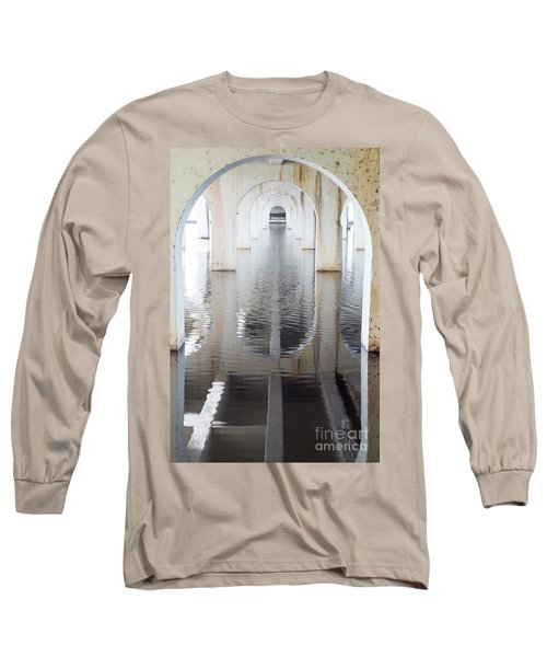 Under The Bridge Long Sleeve T-Shirt by Linda Lees
