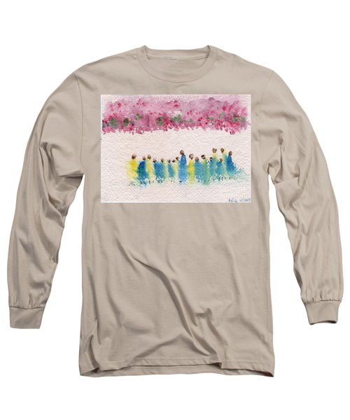 Under The Canopy Of Cherry Blossoms Long Sleeve T-Shirt
