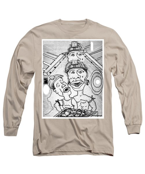Underground Mine Workers In South Africa Long Sleeve T-Shirt