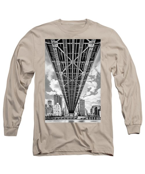 Long Sleeve T-Shirt featuring the photograph Underneath The Queensboro Bridge by Susan Candelario