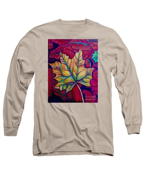 Understudy Of A Turning Maple Leaf In The Fall Long Sleeve T-Shirt by Kimberlee Baxter
