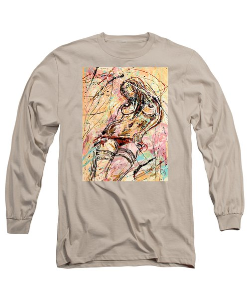 Undressing Woman  Long Sleeve T-Shirt
