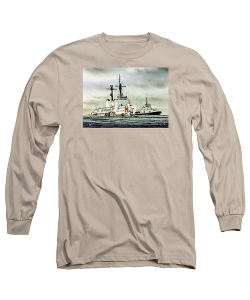 United States Coast Guard Boutwell Long Sleeve T-Shirt by James Williamson