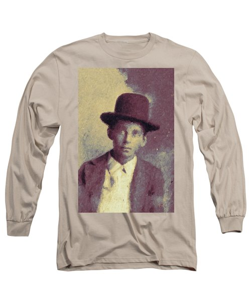 Unknown Boy In A Bowler Hat Long Sleeve T-Shirt