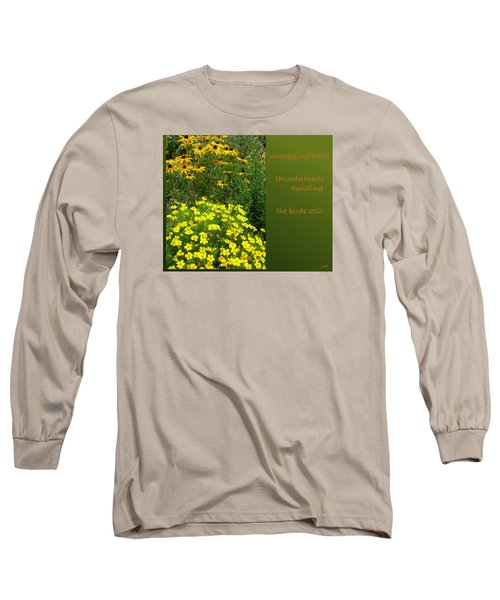 Long Sleeve T-Shirt featuring the digital art Unpegging Wash Haiga by Judi and Don Hall