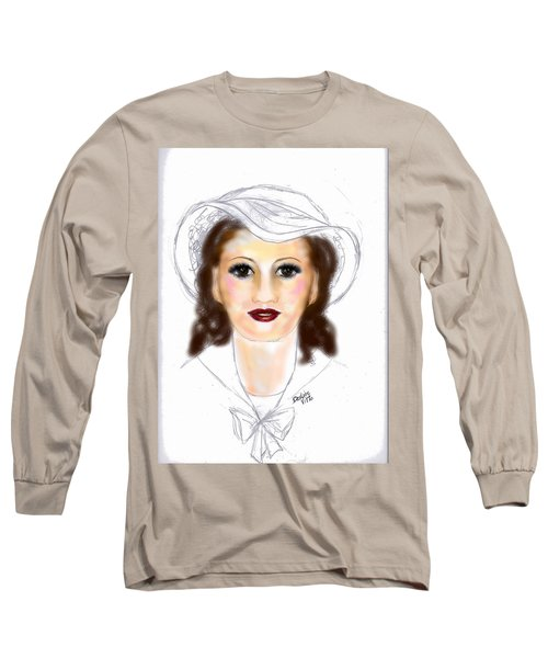 Long Sleeve T-Shirt featuring the drawing Unprepared by Desline Vitto