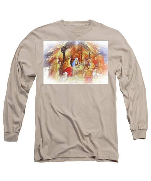 Unto Us A Savior Is Born Long Sleeve T-Shirt