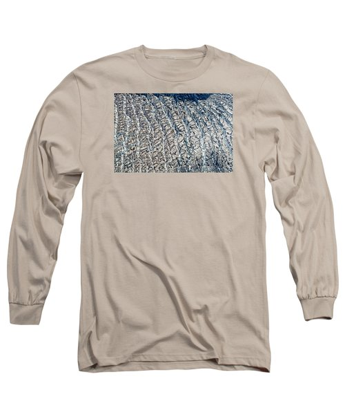Upclose And Personal Of A Glacier Long Sleeve T-Shirt