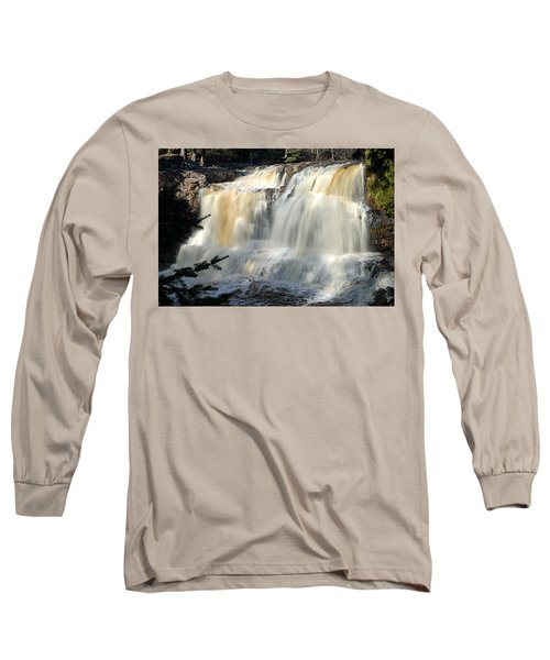 Upper Falls Gooseberry River Long Sleeve T-Shirt