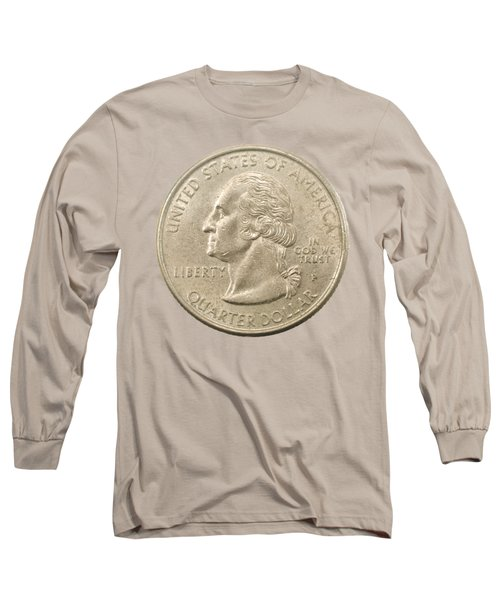 Us One Quarter Dollar Coin  Long Sleeve T-Shirt