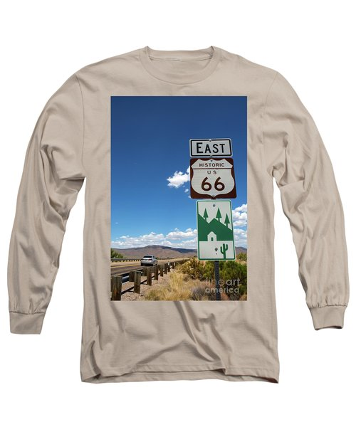 Us Route 66 Sign Arizona Long Sleeve T-Shirt