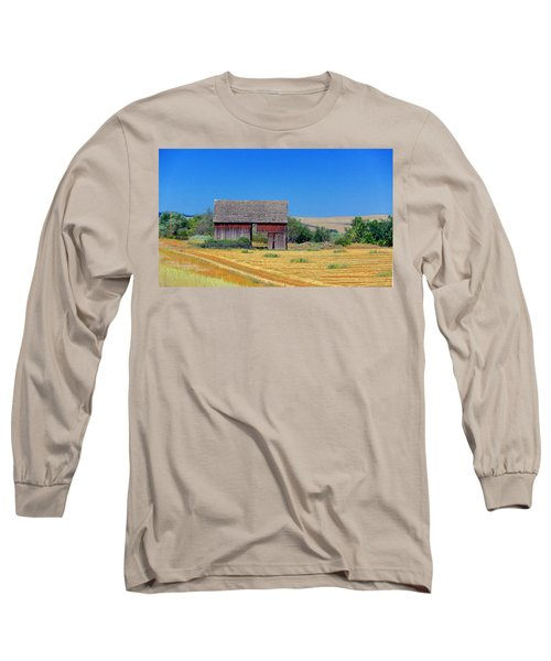 Long Sleeve T-Shirt featuring the photograph Used To Be Red Barn by Susan Crossman Buscho