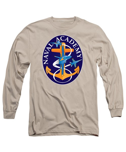 Usna Anchors Aweigh Fouled Anchor Long Sleeve T-Shirt