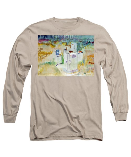 Utility Boxes Near A Forest Long Sleeve T-Shirt