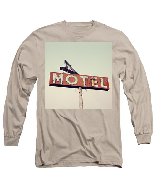 Vacancy Vintage Motel Sign Long Sleeve T-Shirt by Melanie Alexandra Price