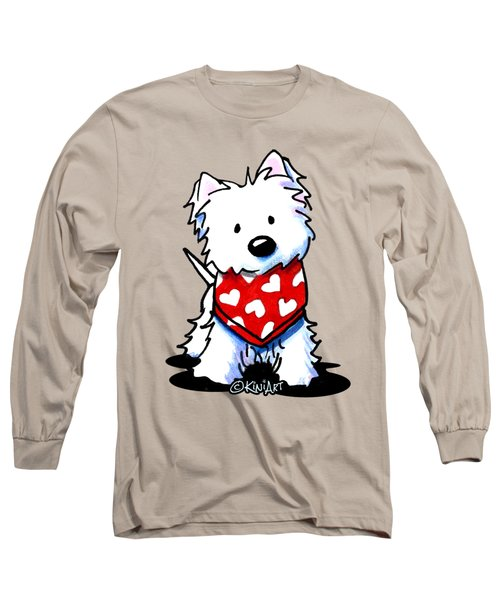 Valentine Westie Long Sleeve T-Shirt