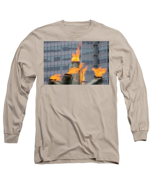 Vancouver Olympic Cauldron 2 Long Sleeve T-Shirt by Ross G Strachan