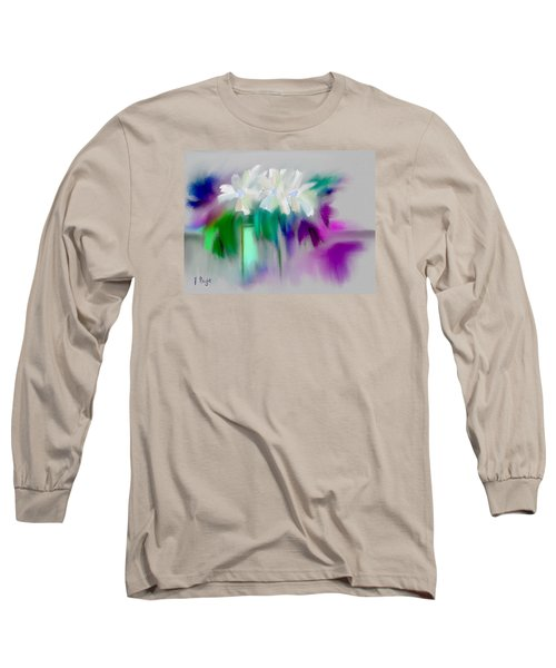 Long Sleeve T-Shirt featuring the digital art Vase And Blooms Abstract by Frank Bright