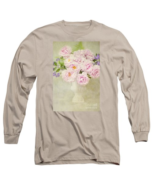 Vase Of Pink Roses Long Sleeve T-Shirt