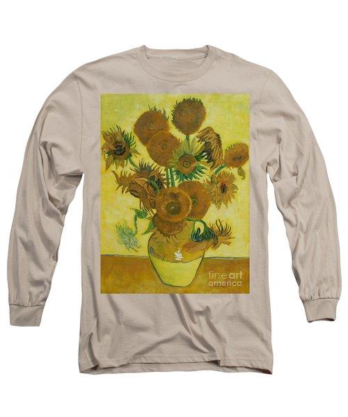 Vase Withfifteen Sunflowers Long Sleeve T-Shirt