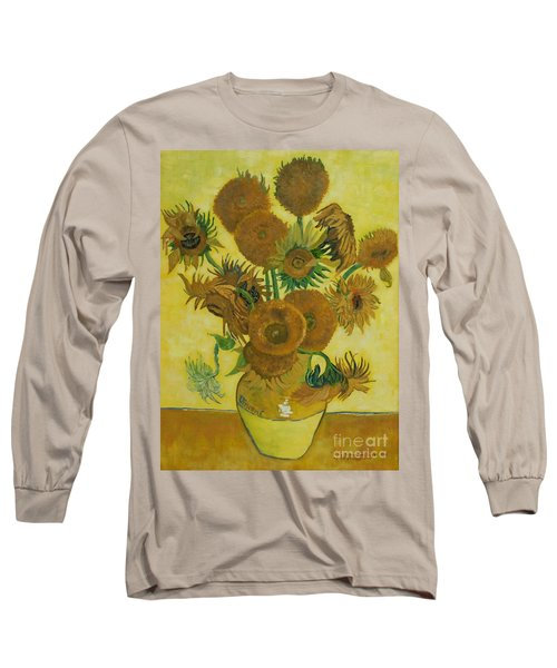 Vase Withfifteen Sunflowers Long Sleeve T-Shirt