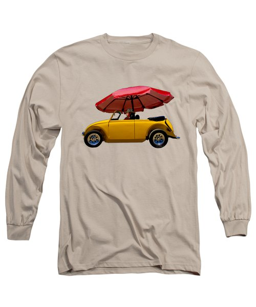 Red Umbrella Downpour At Padre Island Long Sleeve T-Shirt