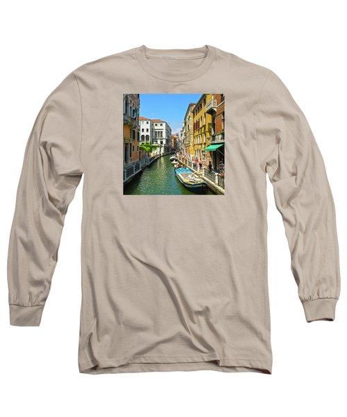 Long Sleeve T-Shirt featuring the photograph Venetian Sunshine by Anne Kotan