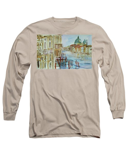 Long Sleeve T-Shirt featuring the painting Venice Impression IIi by Xueling Zou