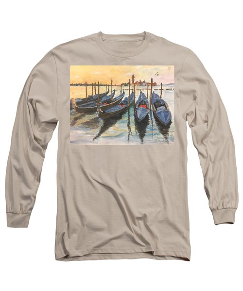 Long Sleeve T-Shirt featuring the painting Venice by Lucia Grilletto