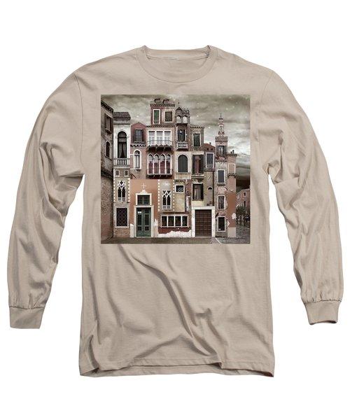 Venice Reconstruction 2 Long Sleeve T-Shirt by Joan Ladendorf