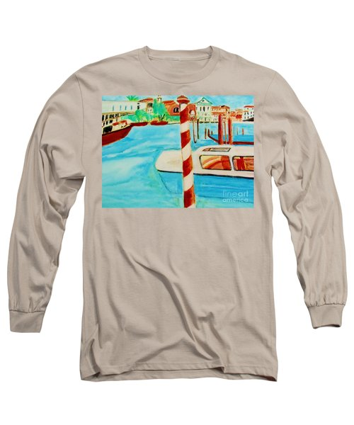Venice Travel By Boat Long Sleeve T-Shirt