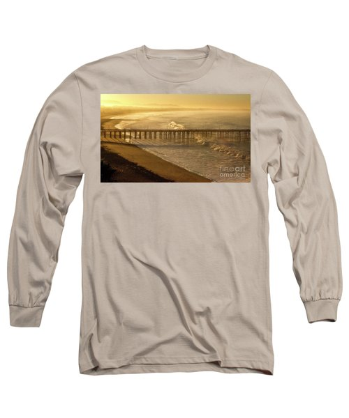 Ventura, Ca Pier At Sunrise Long Sleeve T-Shirt