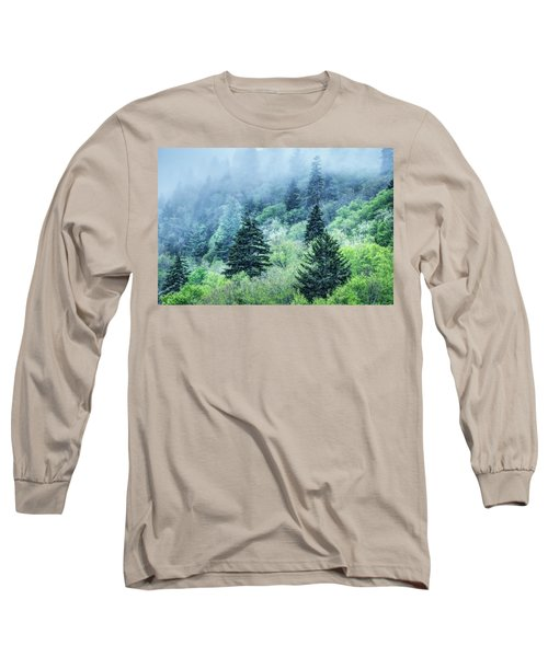 Verdant Forest In The Great Smoky Mountains Long Sleeve T-Shirt