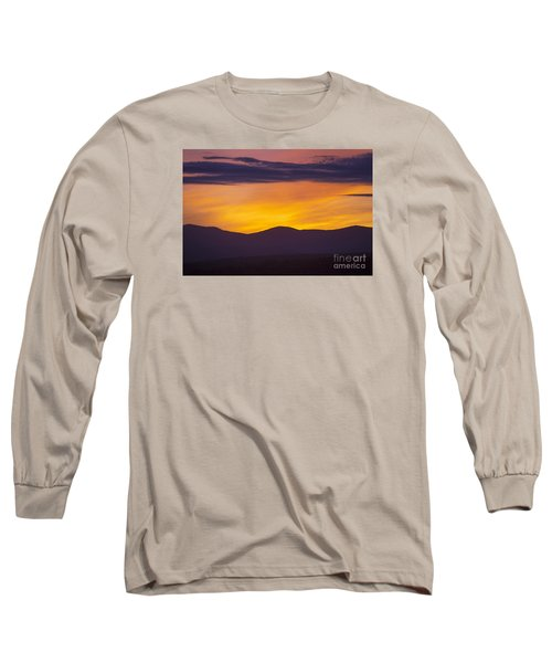 Vermont Sunset Long Sleeve T-Shirt by Diane Diederich