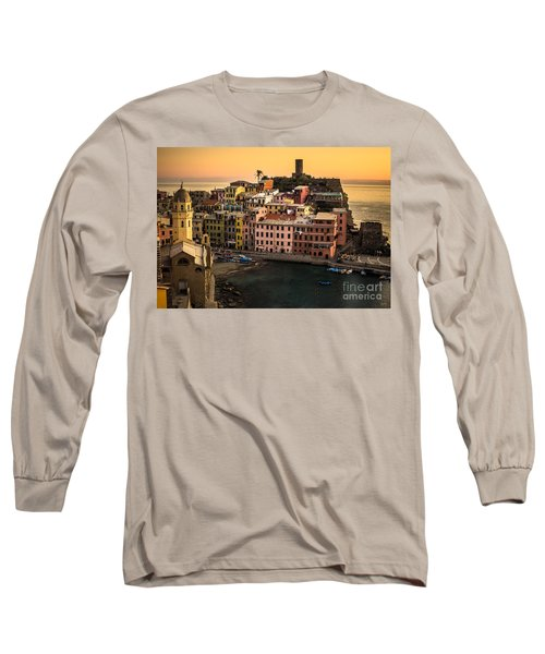 Vernazza At Sunset Long Sleeve T-Shirt