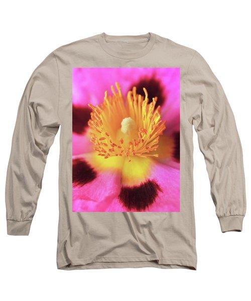 Vibrant Cistus Heart. Long Sleeve T-Shirt by Terence Davis