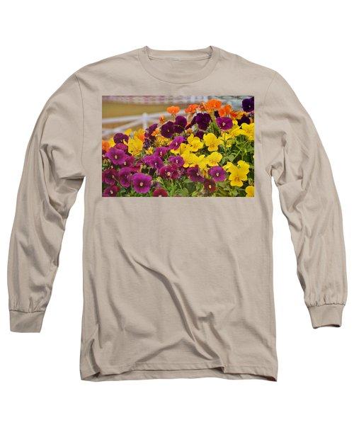 Vibrant Violas Long Sleeve T-Shirt by JAMART Photography