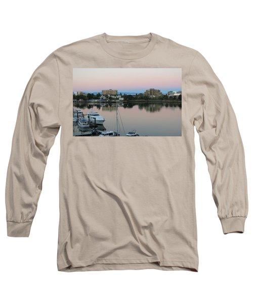 Victoria Harbor Dawn Long Sleeve T-Shirt by Betty Buller Whitehead