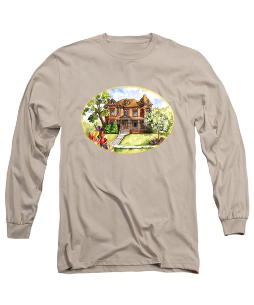 Victorian Mansion In The Spring Long Sleeve T-Shirt
