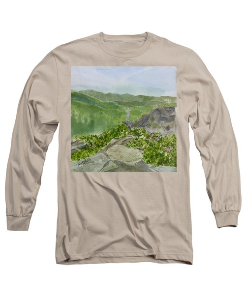 Long Sleeve T-Shirt featuring the painting View From Craggy Gardens - A Watercolor Sketch  by Joel Deutsch