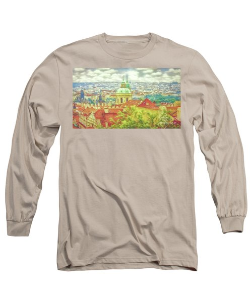 View From The High Ground - Prague  Long Sleeve T-Shirt