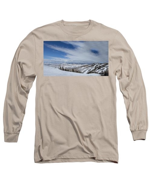 View From The Slope Long Sleeve T-Shirt by Sean Allen