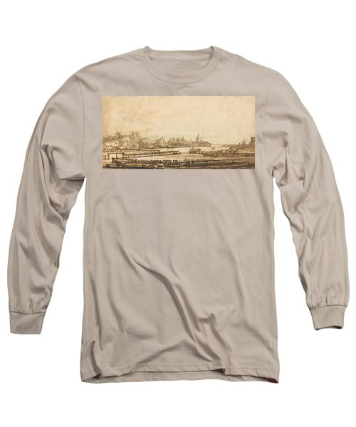 View Over The Amstel From The Rampart Long Sleeve T-Shirt