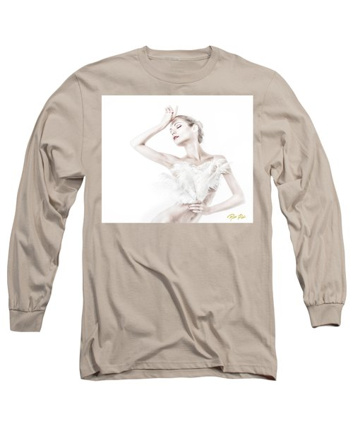 Viktory In White - Feathered Long Sleeve T-Shirt