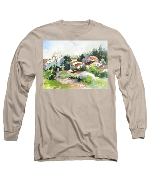 Village Life 5 Long Sleeve T-Shirt by Rae Andrews