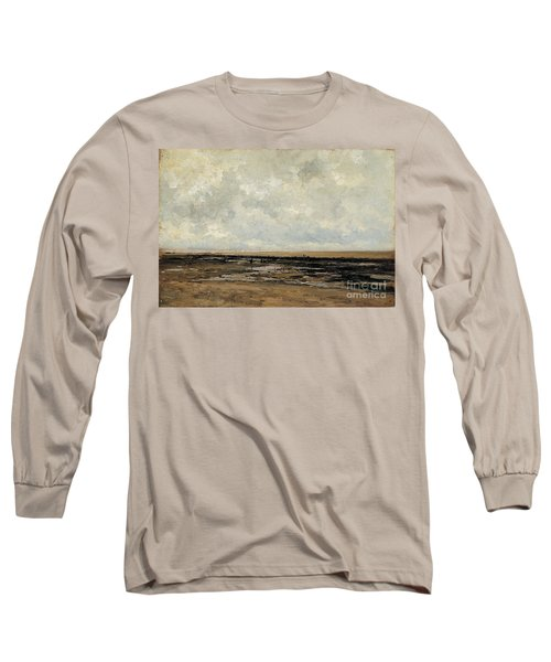 Villerville Beach In Normandy Long Sleeve T-Shirt