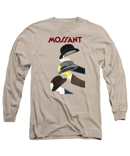Vintage Advert Poster Mossant Long Sleeve T-Shirt